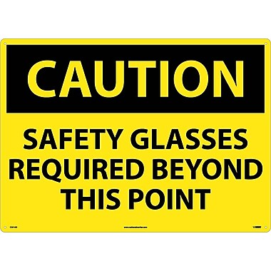 Caution, Safety Glasses Required Beyond This Point, 20