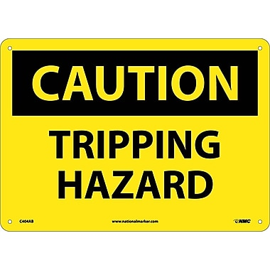 Caution, Tripping Hazard, 10X14, .040 Aluminum