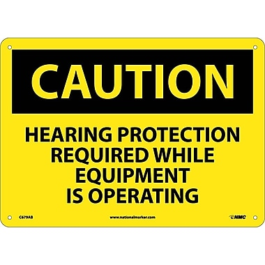 Caution, Hearing Protection Required While Equipment Is Operating, 10