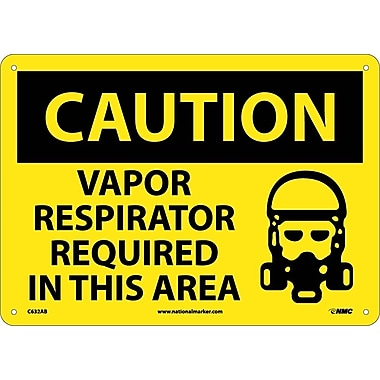 Caution, Vapor Respirator Required In This Area, Graphic, 10