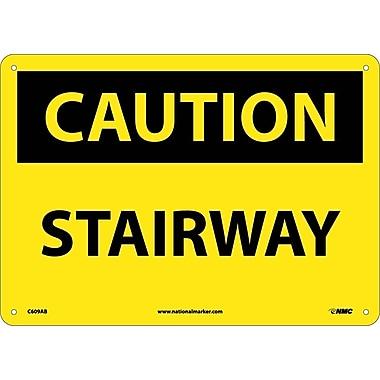 Caution, Stairway, 10X14, .040 Aluminum