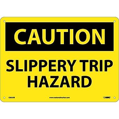 Caution, Slippery Trip Hazard, 10X14, .040 Aluminum