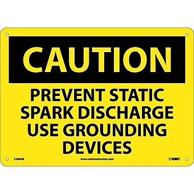 Caution, Prevent Static Spark Discharge Use Grounding Devices, 10