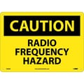 Caution, Radio Frequency Hazard, 10X14, .040 Aluminum