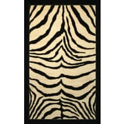 Mohawk® Zebra Safari Nylon Rug, 30 x 46, Black