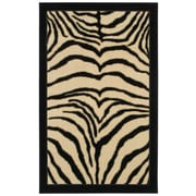 Mohawk® Zebra Safari Nylon Rug, 60 x 96, Black