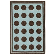 Mohawk® Woodgrain Fluffy Nylon Rug, 40 x 60, Blue