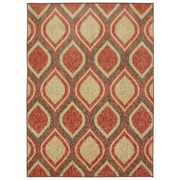 Mohawk® Woodgrain Stylin Ogee Nylon Rug, 60 x 84, Antique