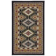 Karastan® Crossroads Addison New Zealand Wool Rug, 2'5 x 4', Black
