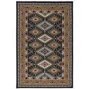 Karastan® Crossroads Addison New Zealand Wool Rug, 5'3 x 8'3, Black