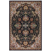 Karastan® Crossroads Duval New Zealand Wool Rug, 5'3 x 8'3, Black