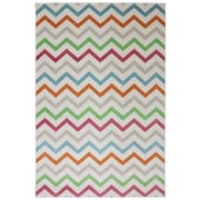 Mohawk® Outdoor Herringbone Polypropylene Rug, 63 x 94, Cream