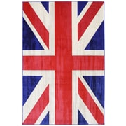 Mohawk® Outdoor Union Jack Synthetic Fiber Rug, 96 x 120, Jockey Red