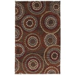 American Rug Craftsmen™ Shaggy Vibes Juniper Polypropylene Rug, 5' x 8', Hot Fudge