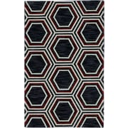 Karastan® Panache Honey Queen Nylon Rug, 2'11 x 4'8, Black