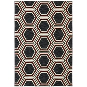 Karastan® Panache Honey Queen Nylon Rug, 5'6 x 8'3, Black