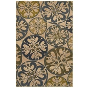 Mohawk® Retro Medallion Polypropylene Rug, 96 x 120, Heather