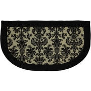 Mohawk® Damask Border Memory Foam Kitchen Slice Polyester Rug, 20 x 36, Black