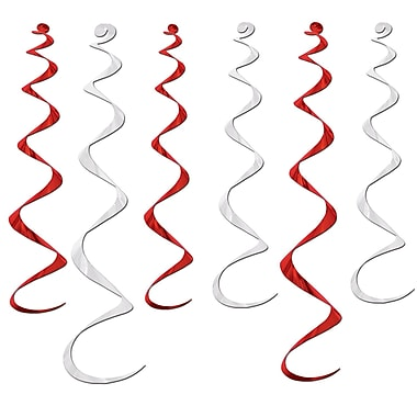 Twirly Whirlys, Red And White, 4-24