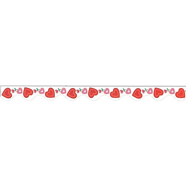 Valentine Border Trim, 37', 4/Pack