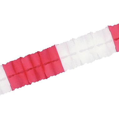 Packaged Leaf Garland, Red And White, 4½