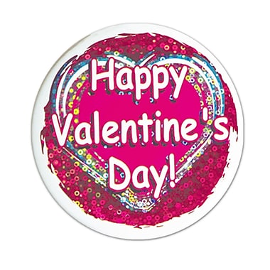 Happy Valentine's Day Button, 3½