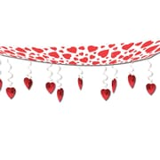 Beistle 12 x 12' Hearts Ceiling Decor, White/Red, 2/Pack