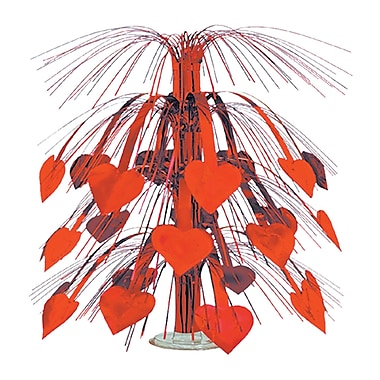 Heart Cascade Centerpiece, Red, 18