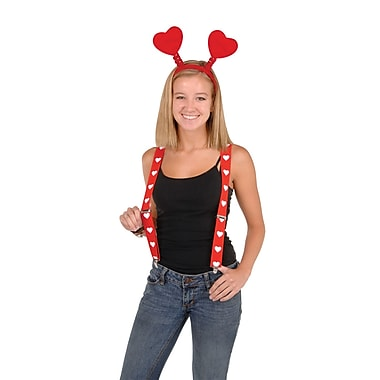 Heart Suspenders, One Size Fits Most, 2/Pack