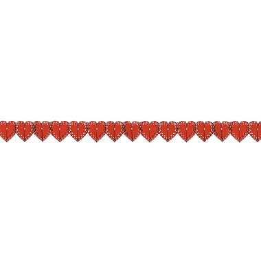 Lace Heart Garland, Red, 7