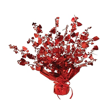 Heart Gleam 'N Burst Centerpiece, Red, 15