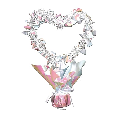 Heart Gleam 'N Shape Centerpiece, Opal, 11½
