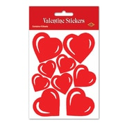 """Heart Stickers , 4¾"""" x 7½"""", 32/Pack"""