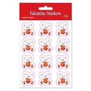 "Valentine Bear Stickers, 4¾"" x 7½"", 32/Pack"