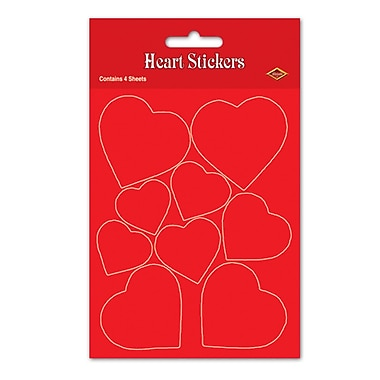 Heart Stickers, Red, 4¾