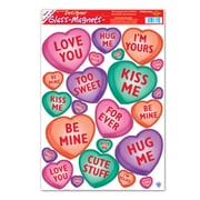 "Beistle 12"" x 17"" Candy Heart Clings, 161/Pack"