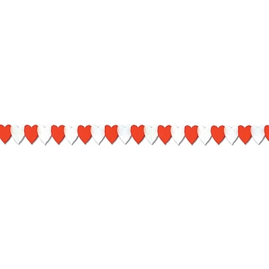 Heart Garland, Red And White, 5