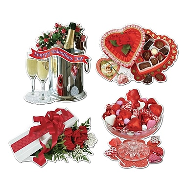 Packaged Valentine Sweetheart Cutouts, 16