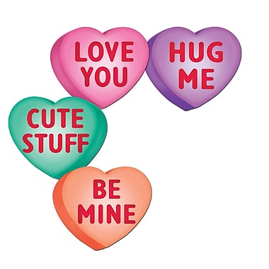 Packaged Candy Heart Cutouts, 14