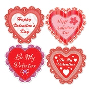 "Beistle 14"" Happy Valentines Day Lace Heart Cutouts, 12/Pack"