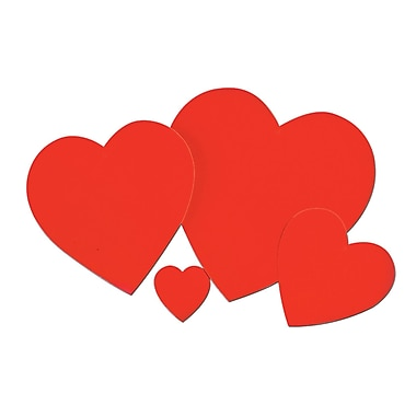 Printed Heart Cutout, 12