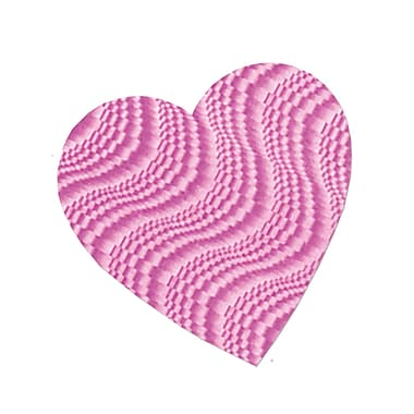 Embossed Foil Heart Cutout, Pink, 4