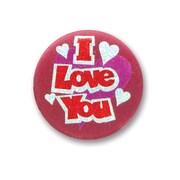 "Beistle 2"" I Love You Satin Button"
