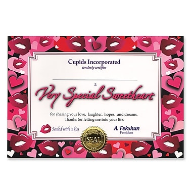 Beistle Very Special Sweetheart Certificate, 5