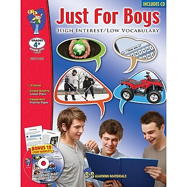 Just For Boys: High Interest/Low Vocabulary Reading Level 1.2-2.9, Grades 4+