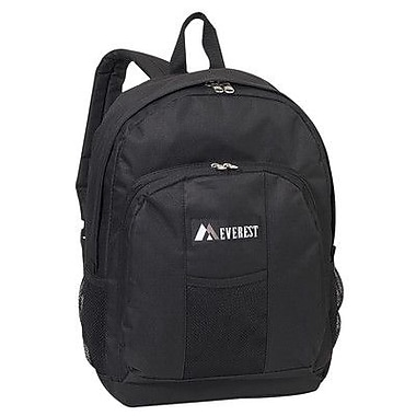 Everest 17'' Backpack with Front and Side Pockets; Black