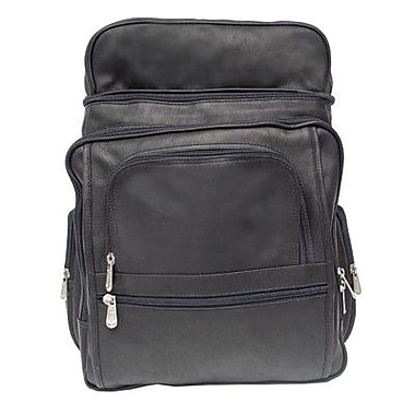 Piel Entrepeneur Flip-Top Computer Backpack; Black