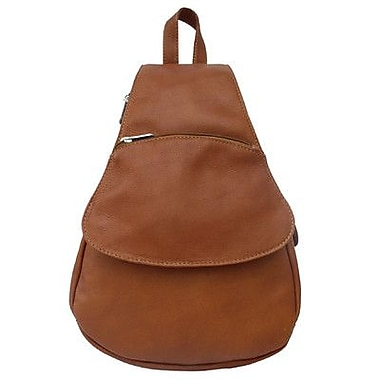 Piel Fashion Avenue Flap-Over Sling; Saddle
