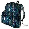 J World Ivy Campus Backpack; Squares Blue