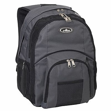 Everest 17'' Laptop Backpack; Charcoal/Black
